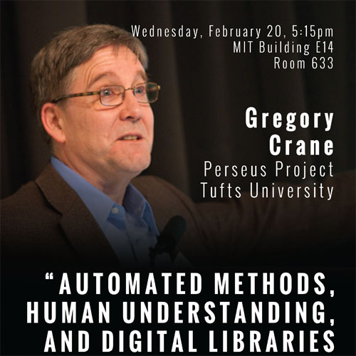 Gregory Crane talks at MIT