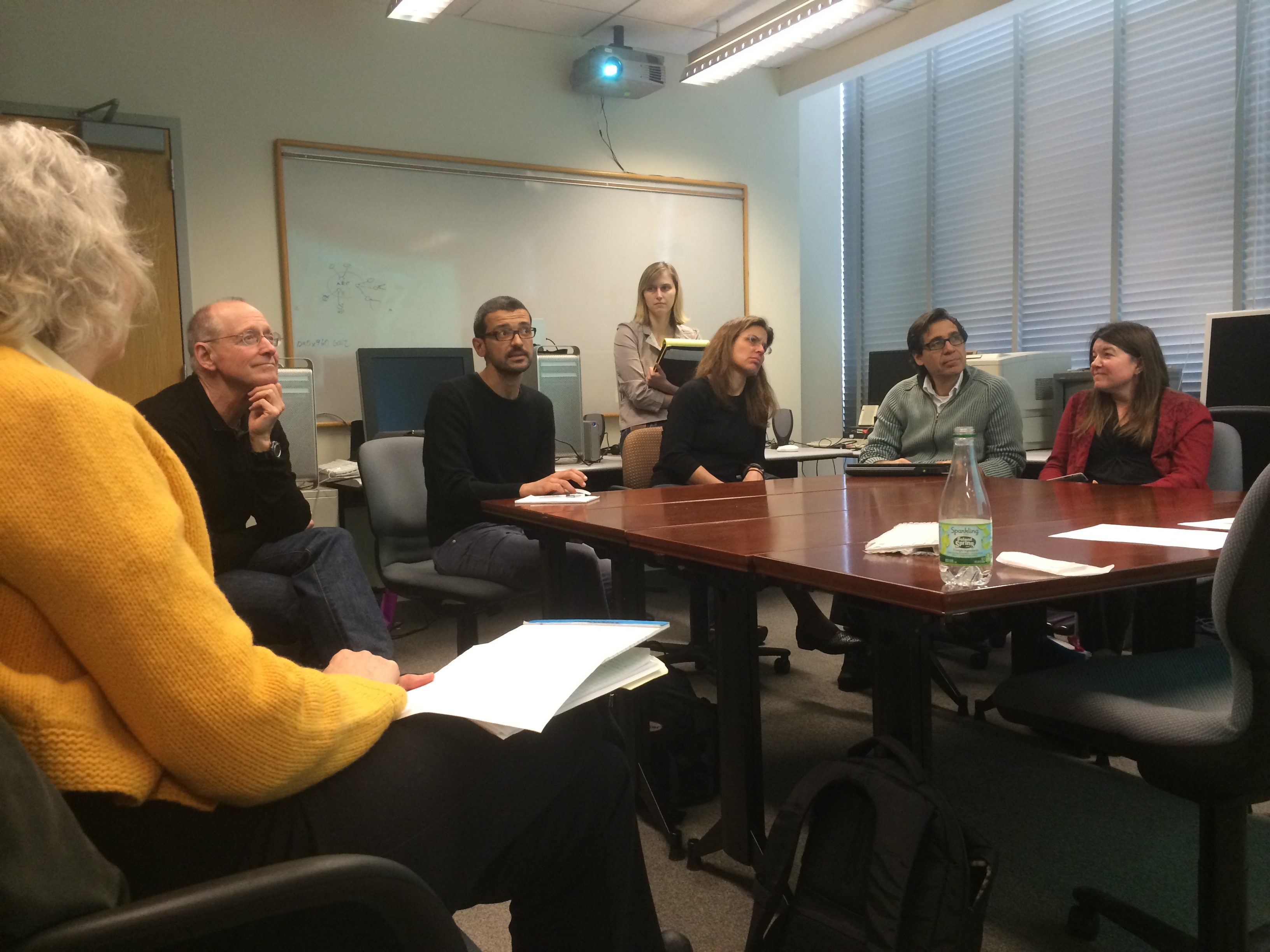 Prof. Roberto Rey Agudo discusses with his colleagues how he used Annotation Studio in his Spanish III course at MIT.